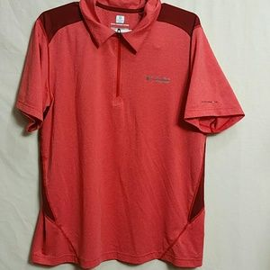 Columbia Men Large Athletic Shorts sleeve polo